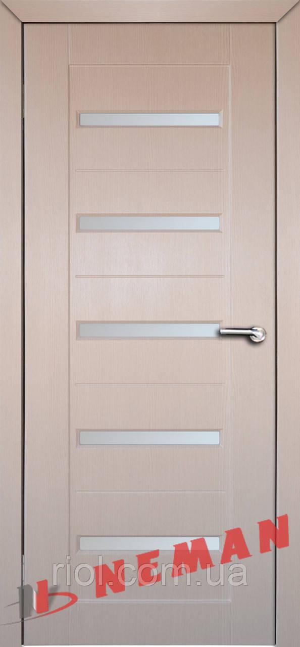 Дверь межкомнатная остекленная Персей (Венге светлый)