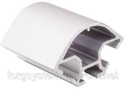 Алюминиевый торговый профиль для витрин 2578 серебро