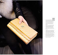 Кошелек клатч Chanel gold