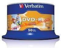 43533 Verbatim DVD-R, 50 pk AZO 16X 4.7GB Wide Inkjet Printable No ID Brand (цена за упаковк (43533)
