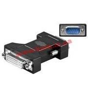 Переходник мониторный DVI->VGAHD15F/ M, Adapter, HQ, PolyBag, черный, Value(DE) (75.06.8029-300)
