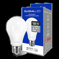 LED лампа GLOBAL A60 10W  220V E27 (яркий свет)