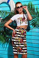 Костюм для девушек с юбкой | Полоска-попугай костюм Айдана