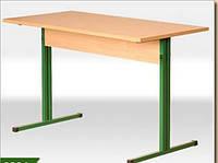 Стол детский 4-х местный прямоугольный на мет./карк.1200*500