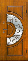 Вхідні двері з мдф накладками Арма з ковкою модель 304 ковка №4