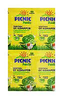 Пластины от комаров Picnic Family с растительными экстрактами - 10 шт.