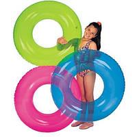 Надувной круг Intex (3 расцветки неон )  59260
