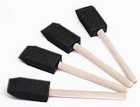 Спонж поролоновый с деревянной ручкой, для шелка, 2,5*5,5 см