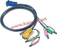 3.0 м. кабель/ шнур, USB (клавиатура+мышь) +монитор + 2 х Audio (звук, микрофон) => SPHDB (2L-5303P)