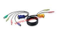 1.8 м. кабель/ шнур, монитор (DVI)+ USB (клавиатура+мышь) +2 х Audio (звук, микрофон) => (2L-7D02U)