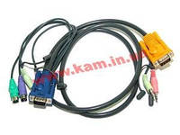 1.8 м. кабель/ шнур, 2 х USB +монитор+2 х Audio (звук, микрофон) => SPHDB-15 + 2 х Audio (2L-5302P)