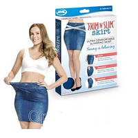 Юбка джинсовая синяя Shape Skirt