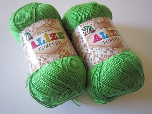 Пряжа Форевер Ализе яркая зелень