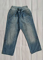 Джинсы-бриджи летние для мальчиков на резинке размер: 104 роста