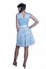 Женское нарядное с поясом  платье голубого цвета. , фото 2
