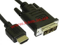 Кабель HDMI-DVI-D Single Link (18+1), (HDCG-15)