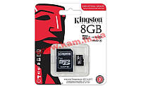 Карта памяти Kingston 8GB microSDHC C10 UHS-I R90/ W20MB/ s Industrial (SDCIT/8GB)