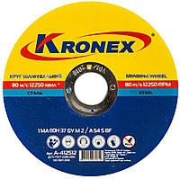Круг зачистной Kronex 1 14А 115х6.0х22.23 (69017000) (10 шт./уп.)