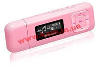 "TRANSCEND MP330 MP3 Player, 8GB, USB2.0, 1"" OLED Display, Pink (TS8GMP330P)"