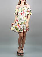"""Цветное летнее платье """"Лилия Вивьен"""" до 52 размера"""
