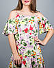 """Цветное летнее платье """"Лилия Вивьен"""" до 52 размера, фото 2"""