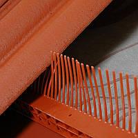 Гребень свеса с вентиляционной решеткой, цвет коричневый Wabis Польша