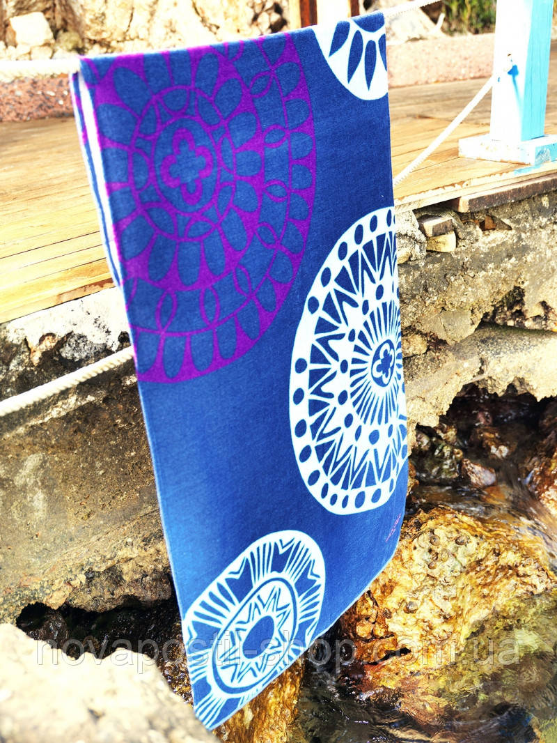 Пляжное полотенце Marie Claire Sunrise синее