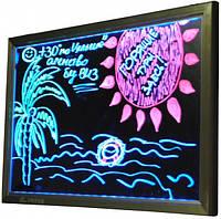 Вывеска рекламная флуоресцентная доска 700х500мм
