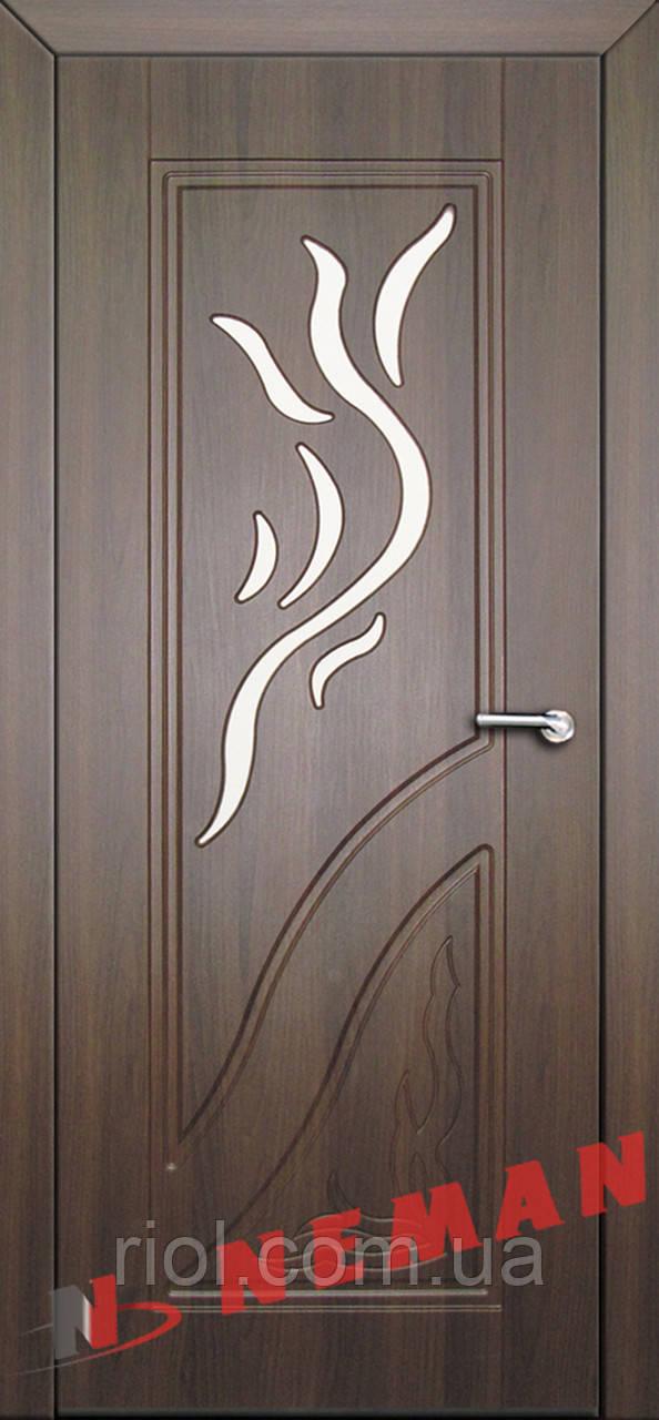 Дверь межкомнатная остекленная Флора