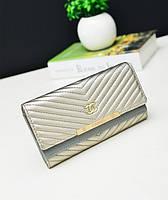 Кошелек клатч Chanel silver