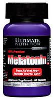 Препарат для нормализации сна Melatonin (Мелатонин) от Ultimate Nutrition (60 капс, 1 капсула в день)