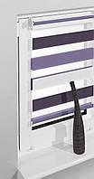 Рулонные шторы 75*160см Белый/сиреневый/фиолетовый Vidella Zebra Trikolor