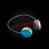 Стереогарнитура Rapoo H3050, синяя. Проводной/ беспроводной режим работы, встроенный ми (H3050 Blue)