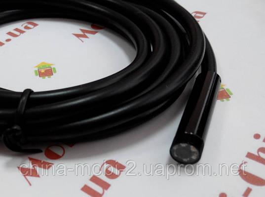 Технічний ендоскоп 2м USB-камера бороскоп, водонепроникна для ПК і Android, фото 2