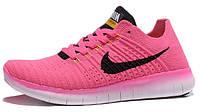 Женские кроссовки Nike Free Run 5,0 Pink, найк фри ран зеление с бирюзовим