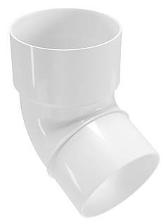 Колено водосточной трубы Regenau D80 (белое)