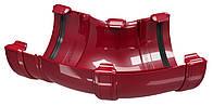 Угол универсальный водосточного желоба Regenau D125 (бордовый)