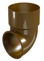 Колено сливноe к водосточной трубе Regenau D80 (коричневое)