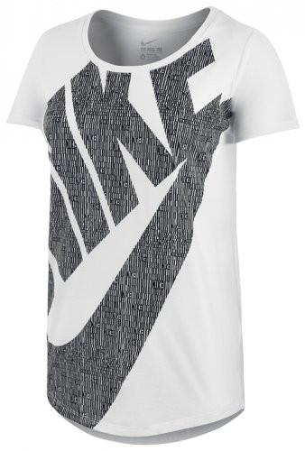 new product 8d6fe f8cc5 Женская футболка Nike tee-bf futura glyph fill (Артикул  729489-100)