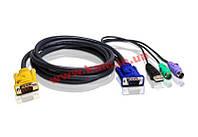 Кабель KVM, USB-PS/ 2, 1,8 м. (2L-5302UP)