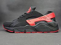 Кроссовки Nike Huarache, черно-красные, фото 1