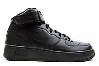 """Кроссовки Nike Air Force 1 High """"Black"""" - """"Черные"""" (Копия ААА+)"""