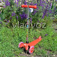 Детский самокат micro Itrike Scooter колёса светятся ручка регулируется красный до 30 кг.
