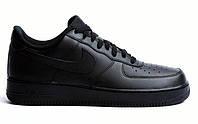 """Кроссовки Nike Air Force 1 Low """"Black"""" - """"Черные"""" (Копия ААА+)"""