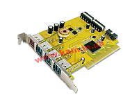 USB 2.0 плата расширения с интерфейсом PCI, 1 х выходом USB на 24В(3А) и 3-мя выходами US (PUB1300P)
