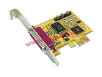 Двухпортовая плата расширения LPT(IEEE1284) с интерфейсом PCI Express X1 (PAR4418A)