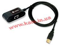 Однопортовый сетевой адаптер 10/ 100Мбит/ сек. с интерфейсом USB 2.0. Чипсет MosChip MCS (UTL1200MB)