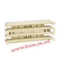 """19"""" коммутационный блок 110 типа, 200 пар, кат.5, с коннекторами, с держателем кабел (P110B1004R4WJ)"""
