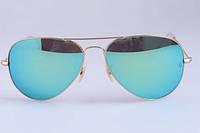Женские солнцезащитные очки в стиле RAY BAN aviator large metal 112/19 LUX, фото 1