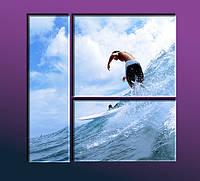 """Модульное панно """"Sea Sport"""". УФ печать. Картина на холсте., фото 1"""